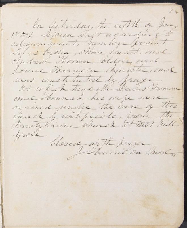 Sessional Records of the 1st Presbyterian Church of Trenton, Delaware Co., Ohio, 1831 (p. 13)