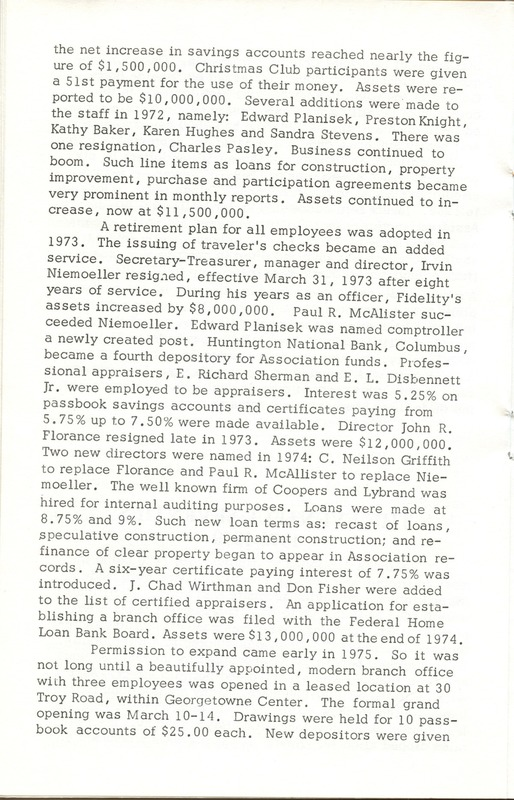 Fidelity Federal Savings and Loan Association 100 Years (p. 19)