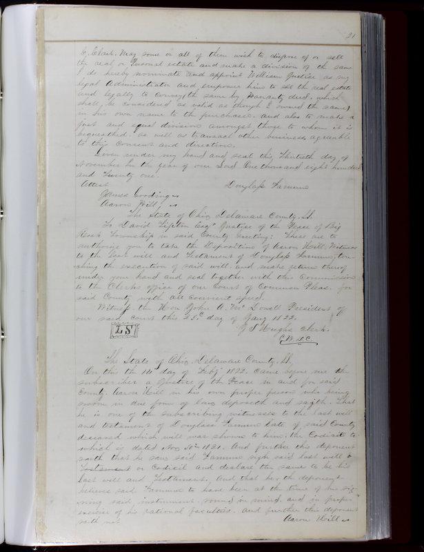 Delaware County Ohio Will Records Vol. 1 1812-1835 (p. 53)