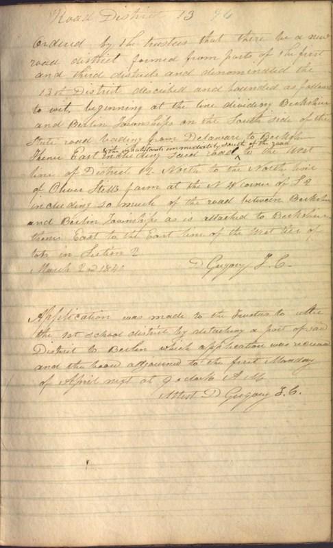 Record Book of Berkshire Township No. 2 1807-1843 (p. 107)