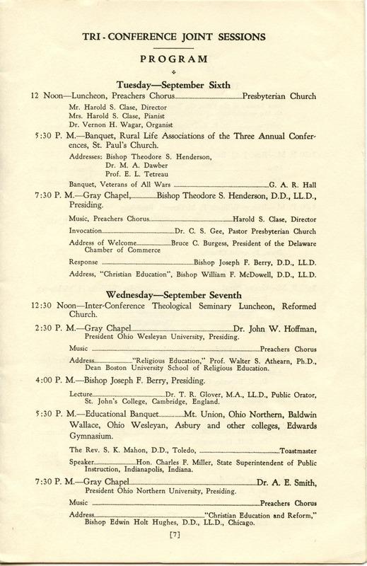 Tri-Conference Program (p. 9)