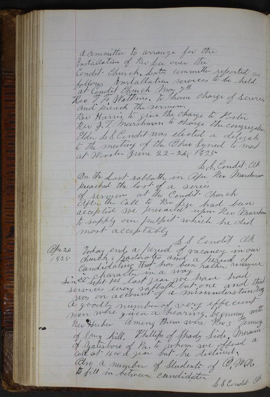 Sessional Records of the 1st Presbyterian Church of Trenton Delaware County Ohio 1873-1937 (p. 224)