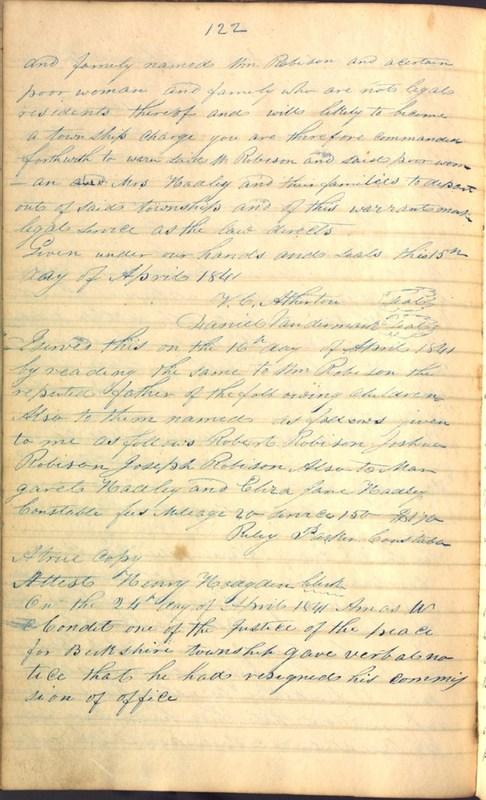 Record Book of Berkshire Township No. 2 1807-1843 (p. 136)