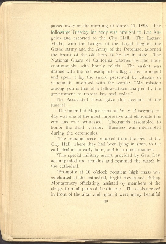 Major-General William Stark Rosecrans (p. 34)