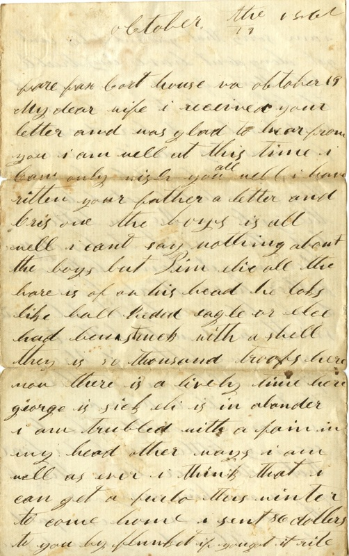 Mitchell Family Civil War Letters (p. 6)