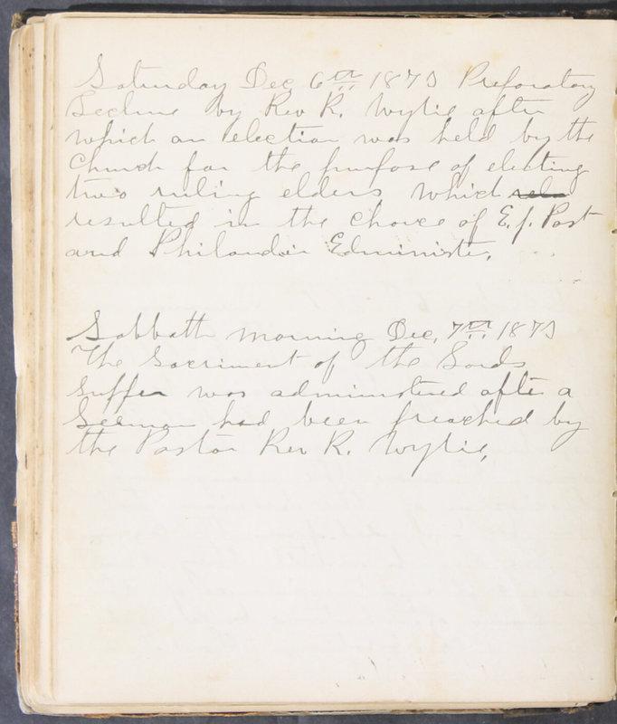 Sessional Records of the 1st Presbyterian Church of Trenton, Delaware Co., Ohio, 1831 (p. 116)