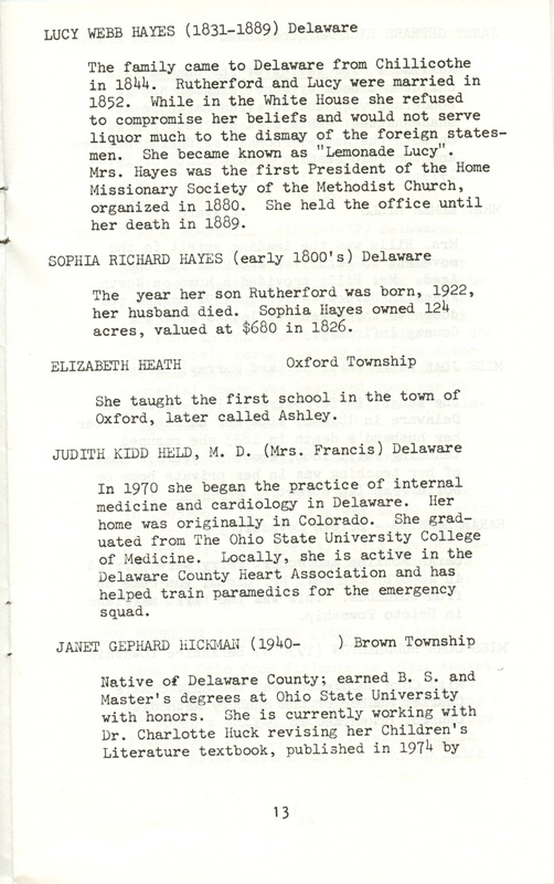 Some Delaware County Women Past and Present (p. 18)