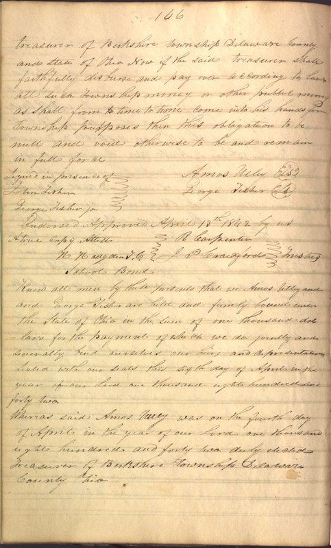 Record Book of Berkshire Township No. 2 1807-1843 (p. 160)