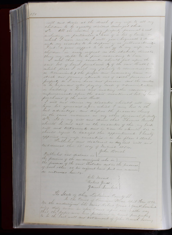 Delaware County Ohio Will Records Vol. 1 1812-1835 (p. 162)