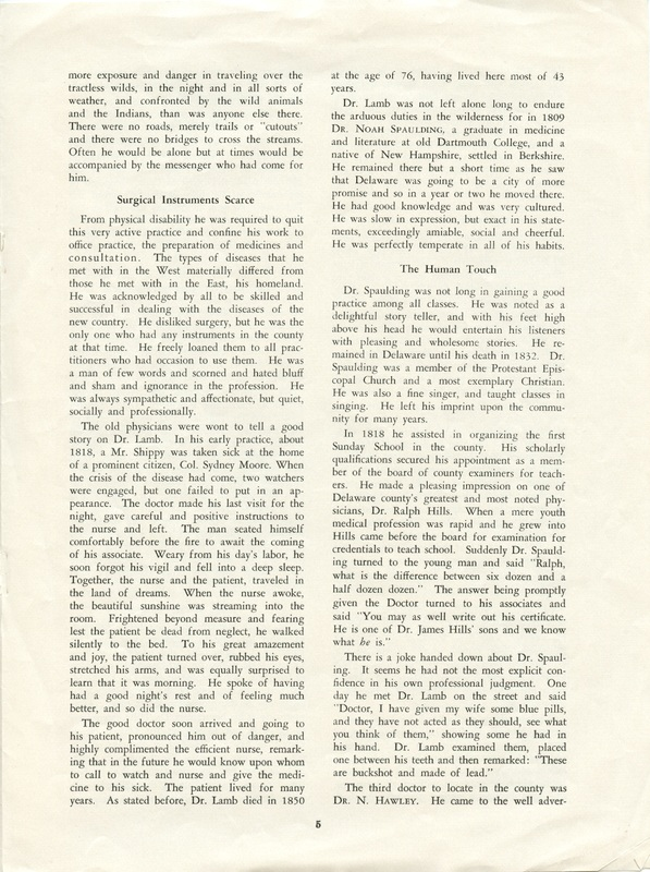 A Short History of Medicine and the Physicians Of Delaware County, Ohio (p. 5)