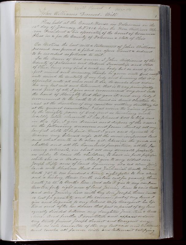 Delaware County Ohio Will Records Vol. 1 1812-1835 (p. 33)