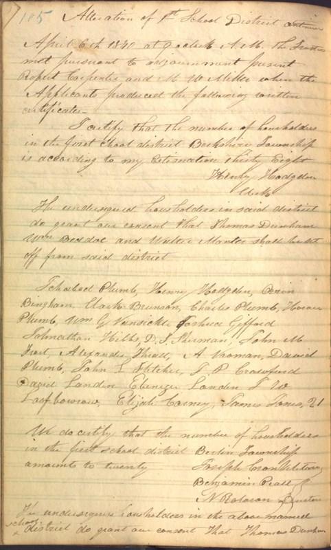 Record Book of Berkshire Township No. 2 1807-1843 (p. 118)