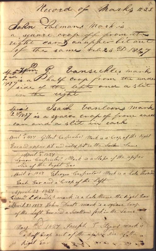 Record Book of Berkshire Township No. 2 1807-1843 (p. 11)
