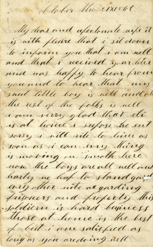 Mitchell Family Civil War Letters (p. 10)