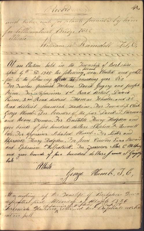 Record Book of Berkshire Township No. 2 1807-1843 (p. 17)