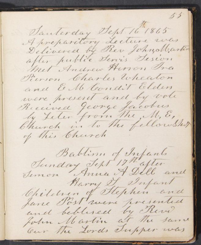 Sessional Records of the 1st Presbyterian Church of Trenton, Delaware Co., Ohio, 1831 (p. 61)