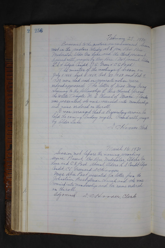Sessional Records of the 1st Presbyterian Church of Trenton Delaware County Ohio 1873-1937 (p. 244)
