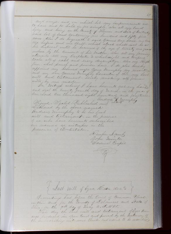 Delaware County Ohio Will Records Vol. 1 1812-1835 (p. 101)