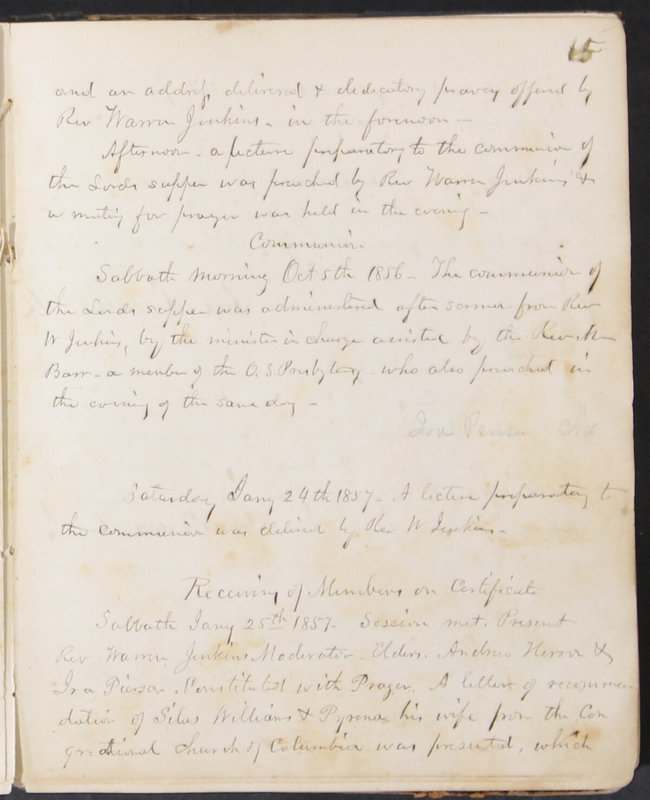 Sessional Records of the 1st Presbyterian Church of Trenton, Delaware Co., Ohio, 1831 (p. 21)