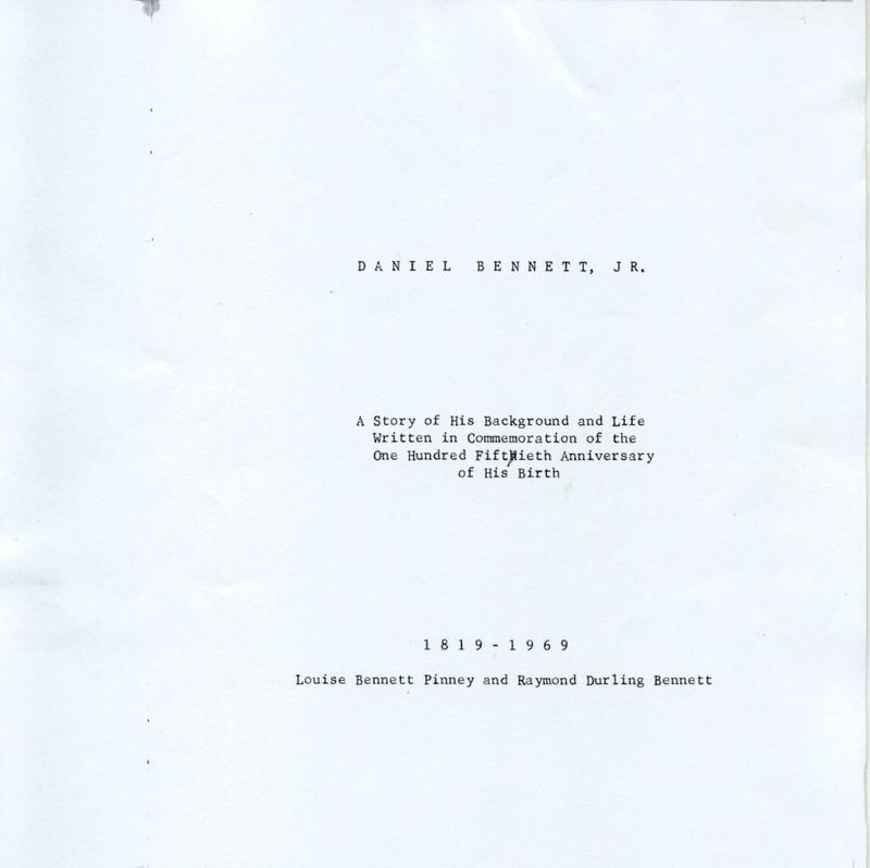 Daniel Bennett, Jr. (p. 2)