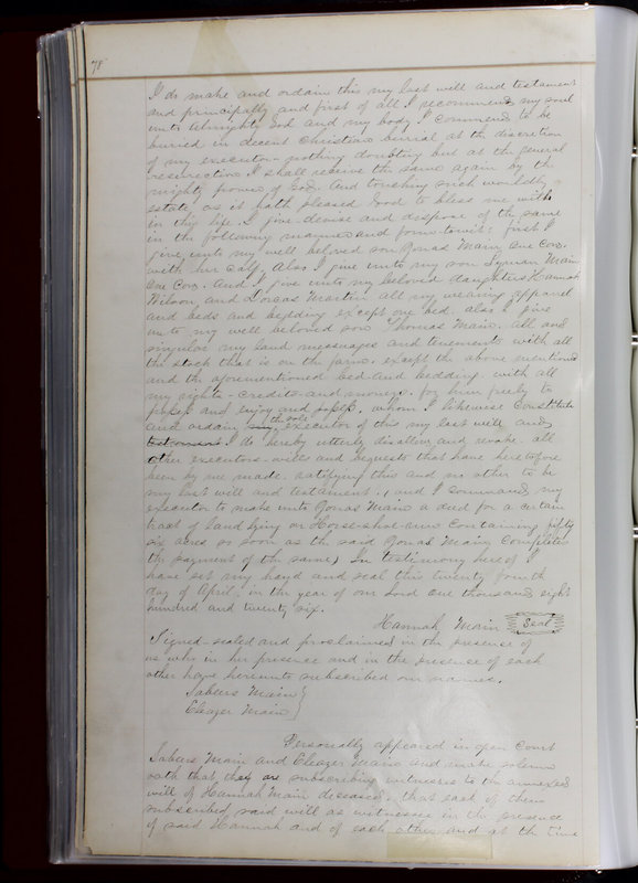 Delaware County Ohio Will Records Vol. 1 1812-1835 (p. 110)