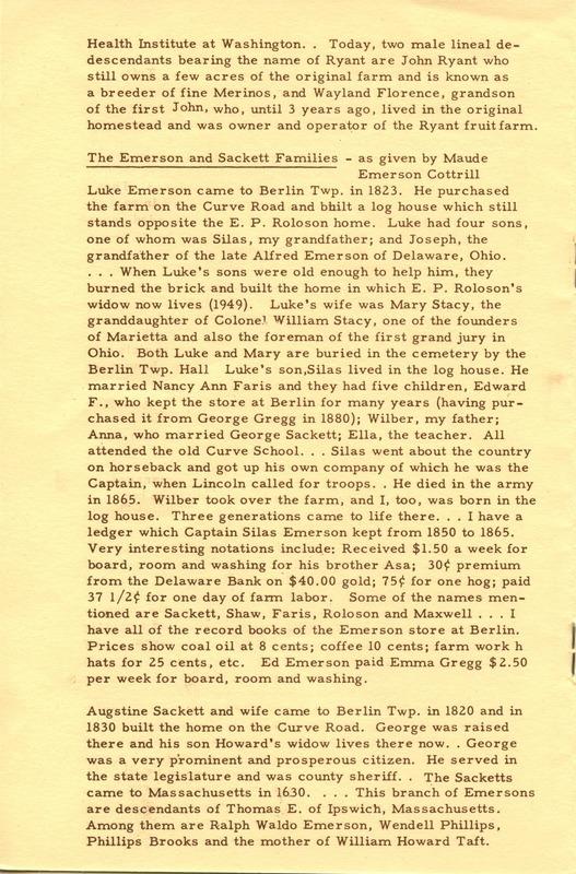 Berlin Township Program of the Delaware County Historical Society (p. 8)