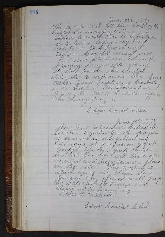 Sessional Records of the 1st Presbyterian Church of Trenton Delaware County Ohio 1873-1937 (p. 283)