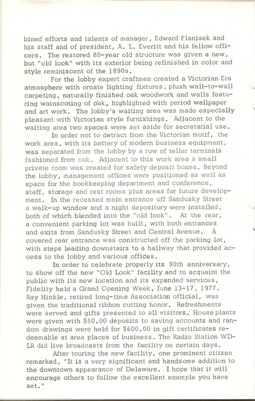 Fidelity Federal Savings and Loan Association 100 Years (p. 21)