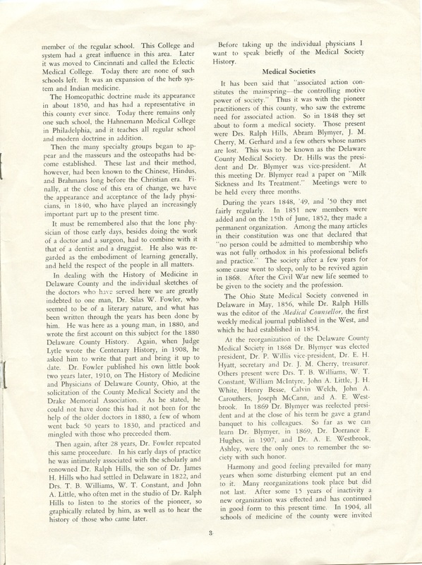 A Short History of Medicine and the Physicians Of Delaware County, Ohio (p. 3)