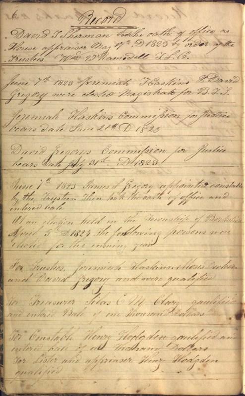 Record Book of Berkshire Township No. 2 1807-1843 (p. 12)