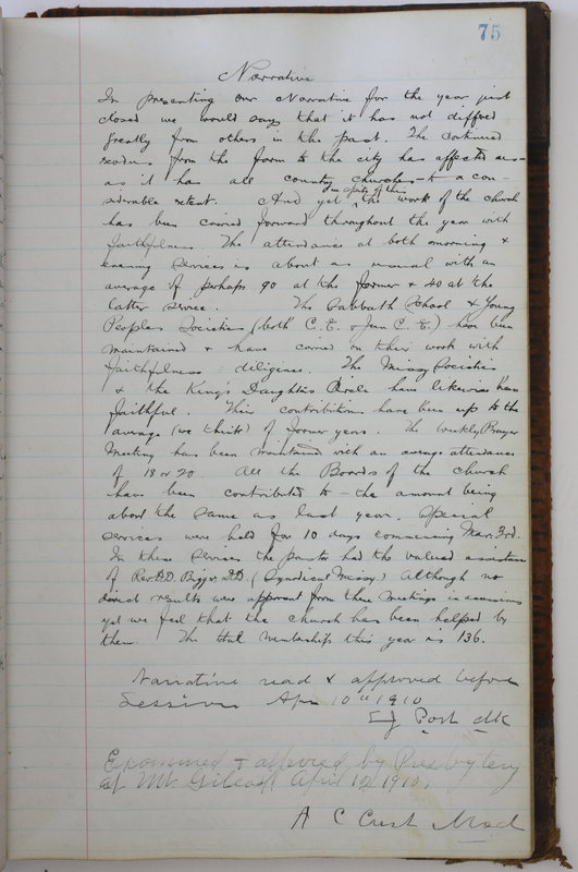 Sessional Records of the 1st Presbyterian Church of Trenton Delaware County Ohio 1873-1937 (p. 79)