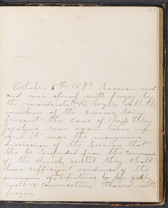 Sessional Records of the 1st Presbyterian Church of Trenton, Delaware Co., Ohio, 1831 (p. 115)
