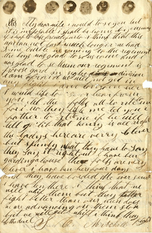 Mitchell Family Civil War Letters (p. 4)