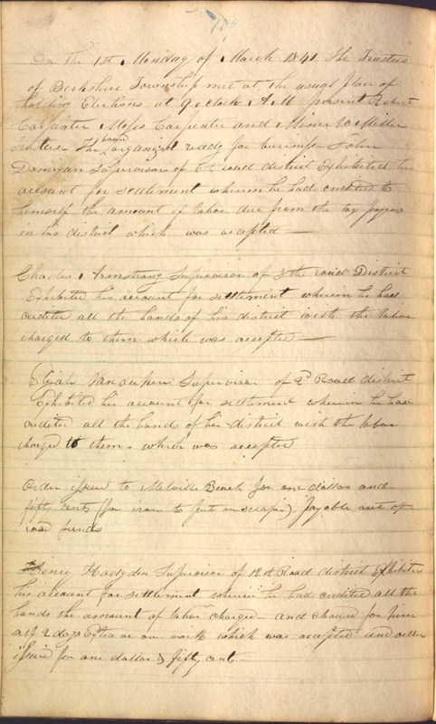 Record Book of Berkshire Township No. 2 1807-1843 (p. 122)