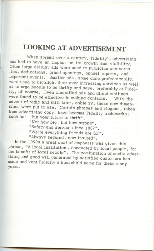 Fidelity Federal Savings and Loan Association 100 Years (p. 30)