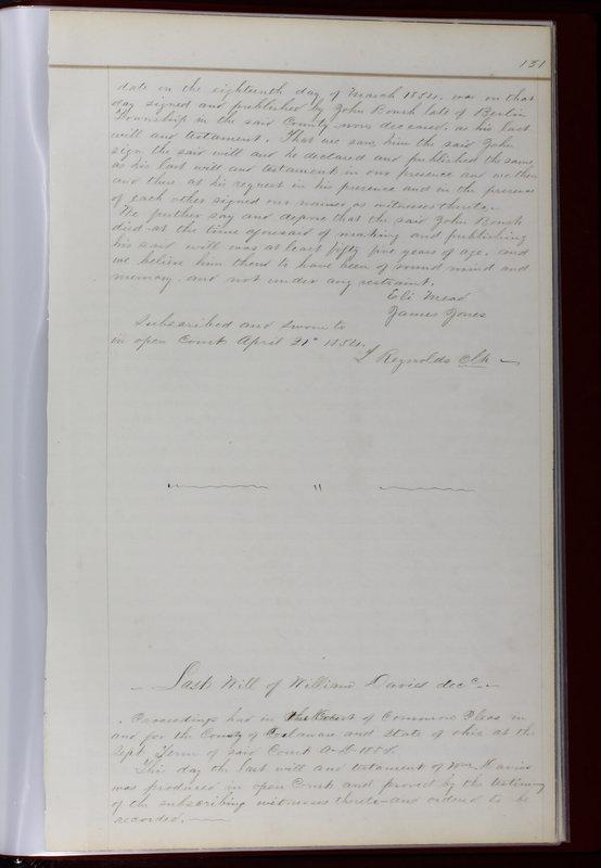 Delaware County Ohio Will Records Vol. 1 1812-1835 (p. 163)