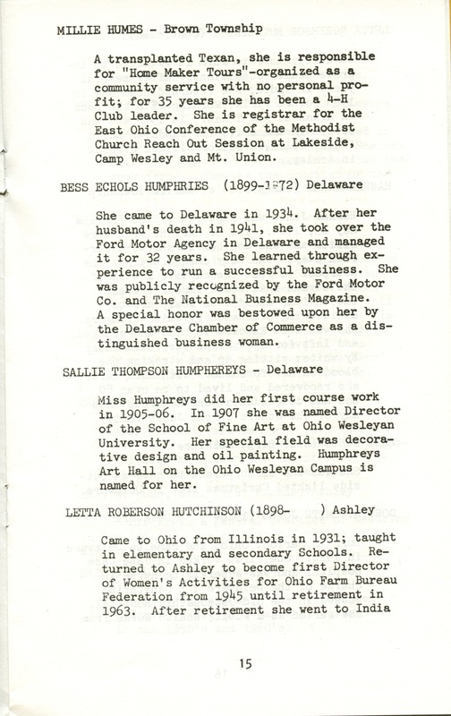 Some Delaware County Women Past and Present (p. 20)