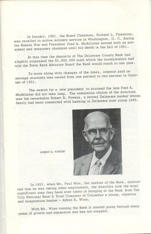 Delaware County Bank 1950-1975 (p. 6)