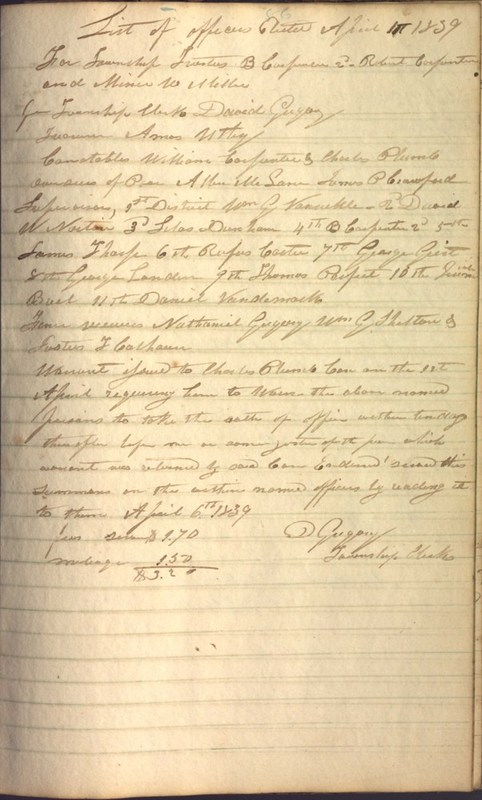 Record Book of Berkshire Township No. 2 1807-1843 (p. 99)