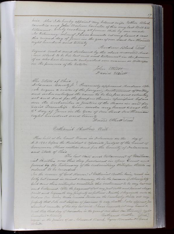 Delaware County Ohio Will Records Vol. 1 1812-1835 (p. 49)