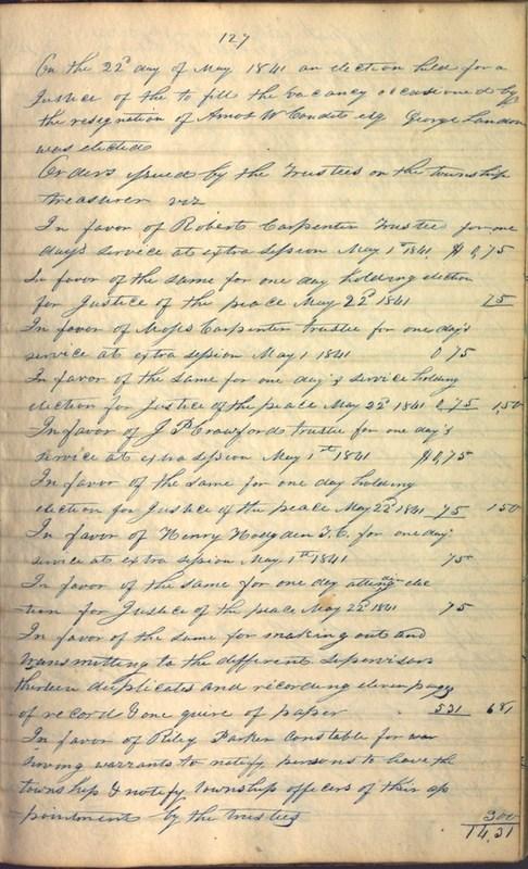 Record Book of Berkshire Township No. 2 1807-1843 (p. 141)