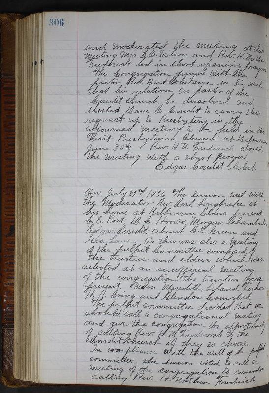 Sessional Records of the 1st Presbyterian Church of Trenton Delaware County Ohio 1873-1937 (p. 293)