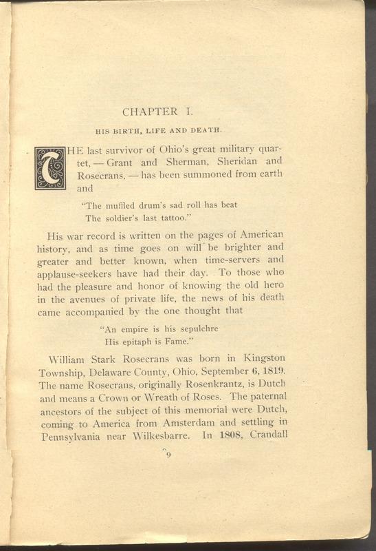 Major-General William Stark Rosecrans (p. 13)