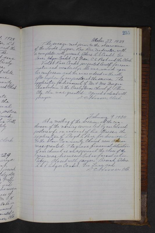 Sessional Records of the 1st Presbyterian Church of Trenton Delaware County Ohio 1873-1937 (p. 243)