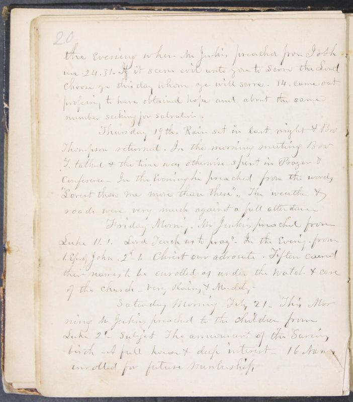 Sessional Records of the 1st Presbyterian Church of Trenton, Delaware Co., Ohio, 1831 (p. 26)