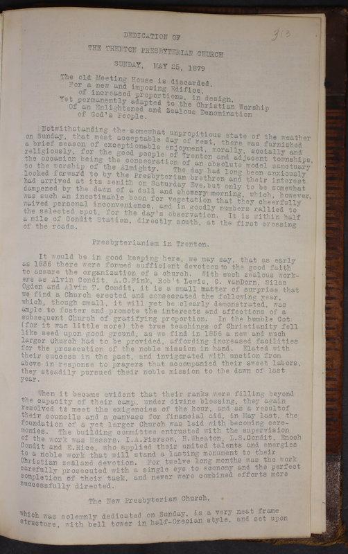 Sessional Records of the 1st Presbyterian Church of Trenton Delaware County Ohio 1873-1937 (p. 300)