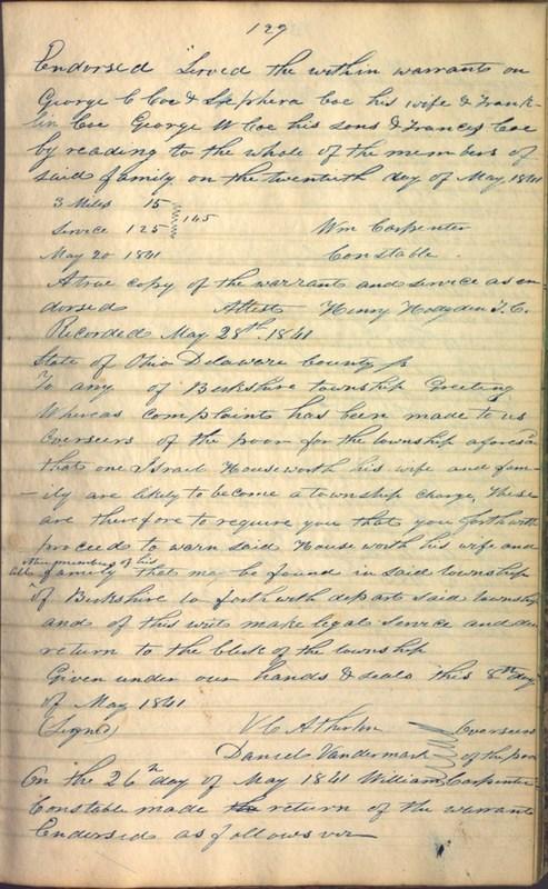Record Book of Berkshire Township No. 2 1807-1843 (p. 143)