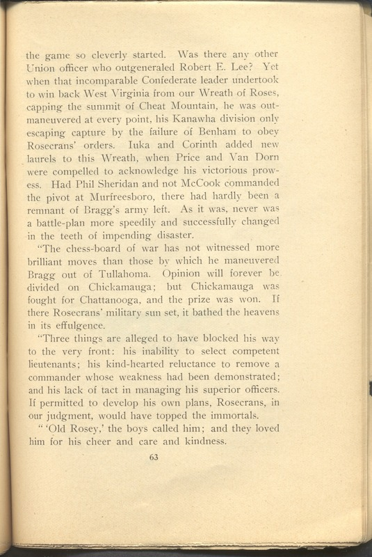 Major-General William Stark Rosecrans (p. 67)