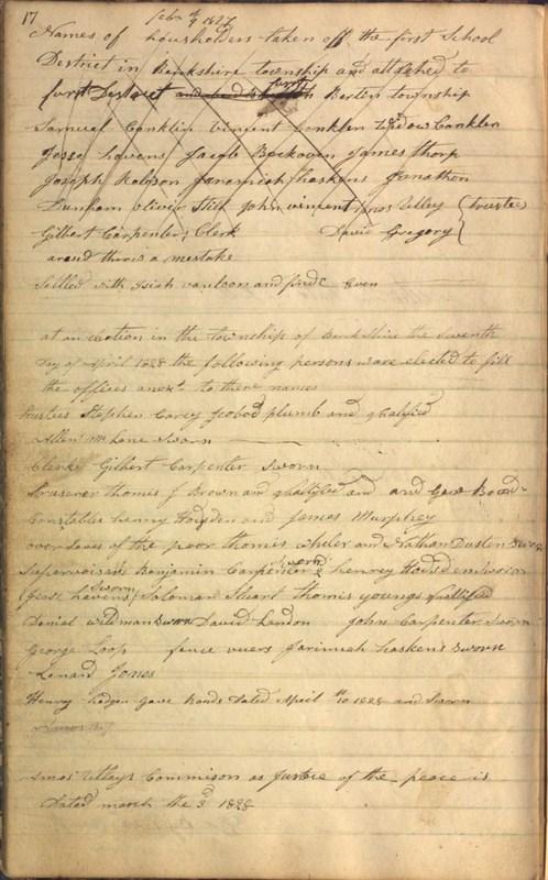Record Book of Berkshire Township No. 2 1807-1843 (p. 30)