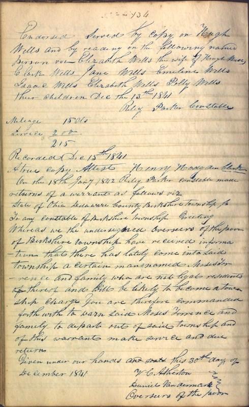 Record Book of Berkshire Township No. 2 1807-1843 (p. 148)